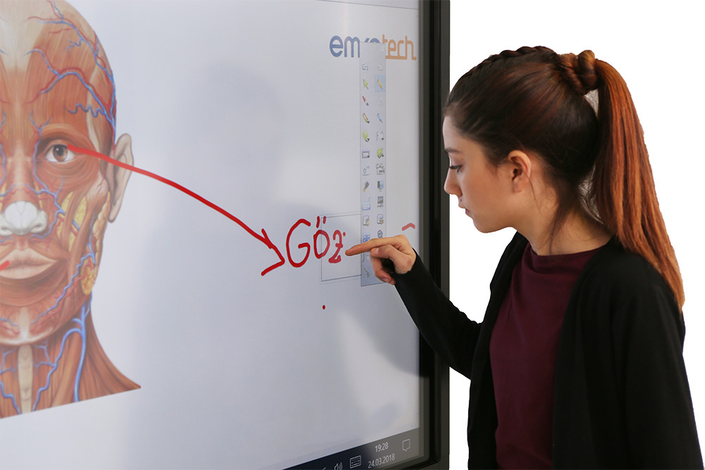 Student writes on Emkotech GO!
